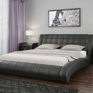 Кровати из экокожи с мягким изголовьем